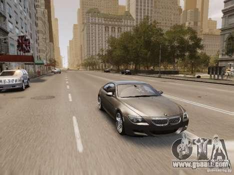 BMW M6 2010 for GTA 4 interior