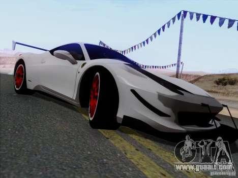 Ferrari 458 Italia Tuned for GTA San Andreas left view