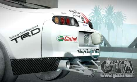 Toyota Supra JZA80 RZ Dragster for GTA San Andreas right view
