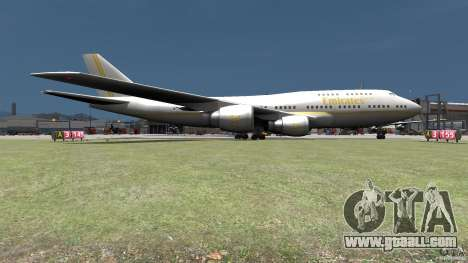 Real Emirates Airplane Skins Gold for GTA 4 back left view