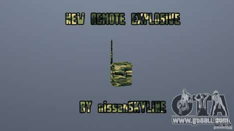 The new explosive for GTA San Andreas