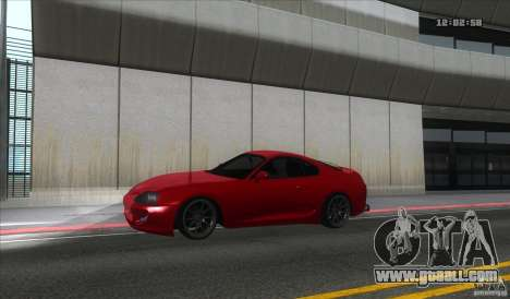 Toyota Supra Stance for GTA San Andreas left view