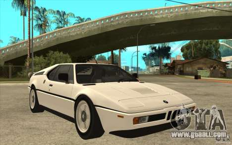 BMW M1 1981 for GTA San Andreas back view
