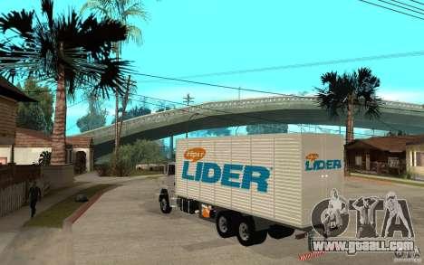Camiun Hiper Lider for GTA San Andreas back left view
