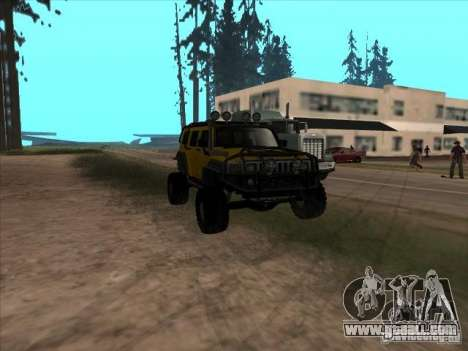 Hummer H3 Trial for GTA San Andreas back view