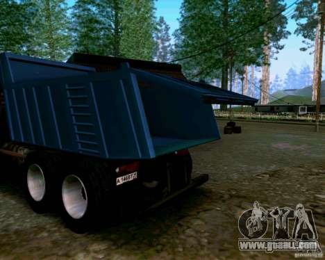 KAMAZ 6520 dump truck for GTA San Andreas inner view
