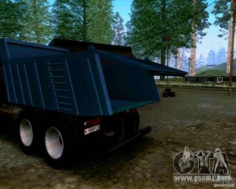 KAMAZ 6520 dump truck for GTA San Andreas inner view