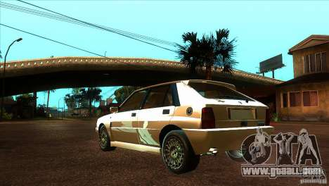 Lancia Delta HF Integrale for GTA San Andreas back left view
