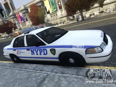 Ford Crown Victoria NYPD 2012 for GTA 4 left view