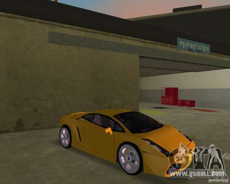 Lamborghini Gallardo v.2 for GTA Vice City back view