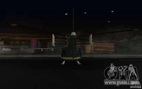 GTA IV Police Maverick for GTA San Andreas back view