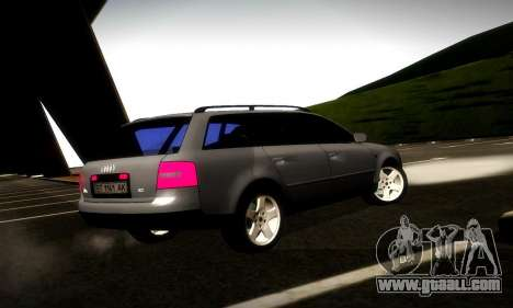 Audi A6 C5 Avant 3.0 for GTA San Andreas right view