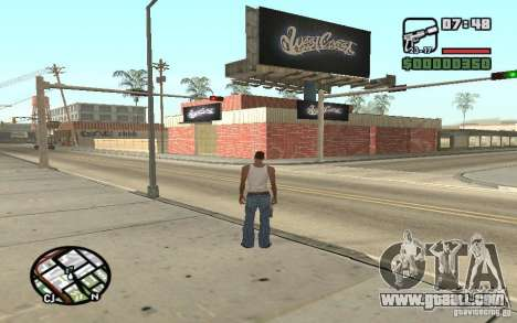 A Paint Shop West Coast Customs for GTA San Andreas