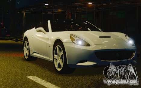 Ferrari California for GTA 4 inner view