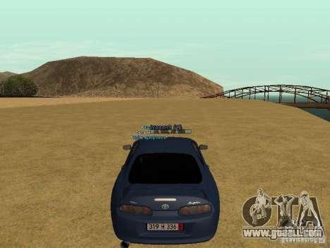 Toyota Supra for GTA San Andreas bottom view