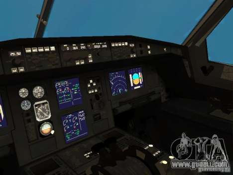 Airbus A340-300 Qantas Airlines for GTA San Andreas inner view