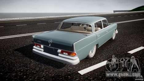 Mercedes-Benz W111 v1.0 for GTA 4 upper view