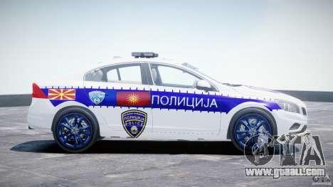 Volvo S60 Macedonian Police [ELS] for GTA 4 inner view