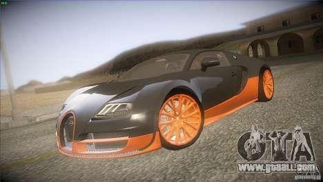 Bugatti Veyron Super Sport for GTA San Andreas back left view