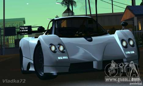 Pagani Zonda EX-R for GTA San Andreas