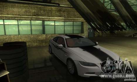 BMW M3 E92 for GTA San Andreas side view