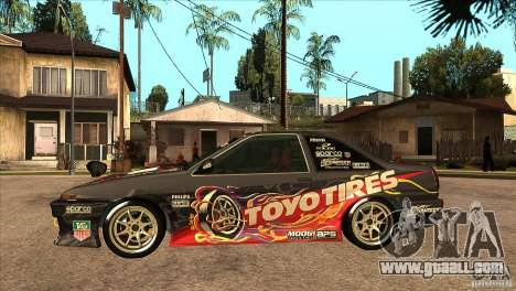 Toyota Corolla AE86 Grid for GTA San Andreas left view