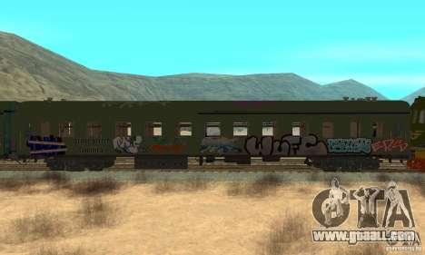 Custom Graffiti Train 2 for GTA San Andreas back left view