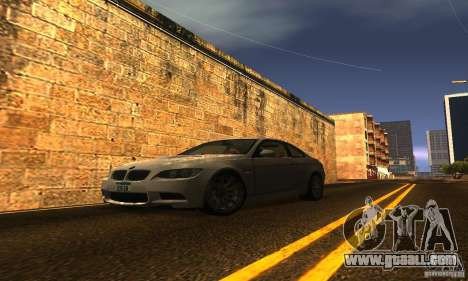 BMW M3 E92 for GTA San Andreas engine