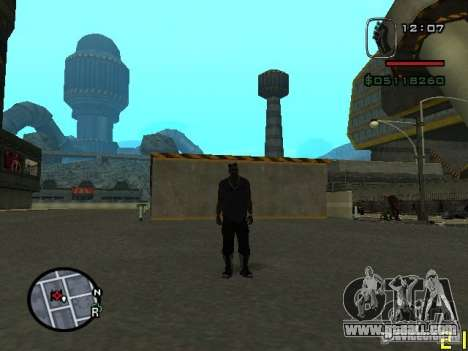 CJ of the invisible man for GTA San Andreas second screenshot
