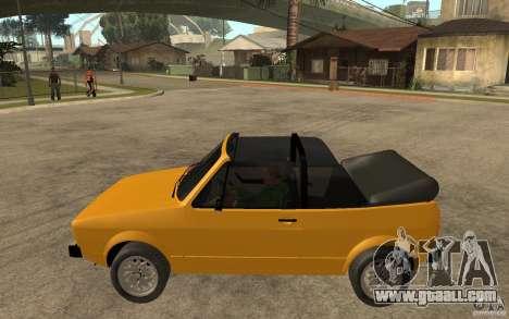 Volkswagen Golf MK1 Cabrio for GTA San Andreas left view
