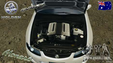 Holden Monaro CV8-R for GTA 4 side view