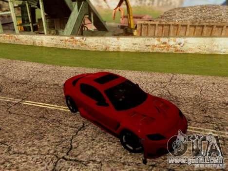 Mazda RX8 Reventon for GTA San Andreas back view