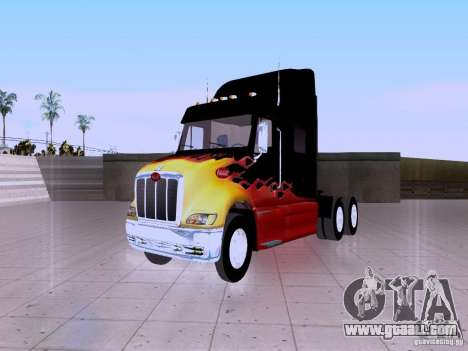 Peterbilt 387 for GTA San Andreas back view