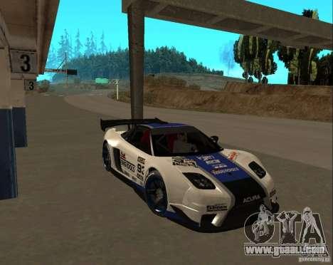 Acura NSX Sumiyaka for GTA San Andreas side view