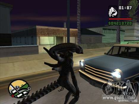 Alien Xenomorph for GTA San Andreas third screenshot