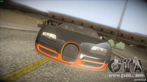 Bugatti Veyron Super Sport for GTA San Andreas bottom view