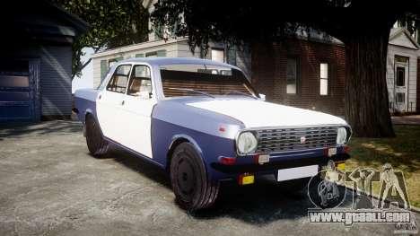 Gaz-2410 Volga 1989 v2.1 for GTA 4 back view