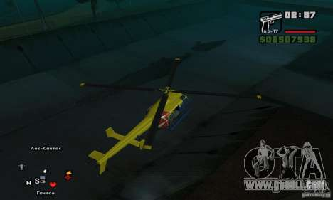 Helitours Maverick from GTA 4 for GTA San Andreas right view