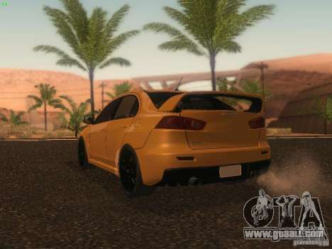 Mitsubishi  Lancer Evo X BMS Edition for GTA San Andreas