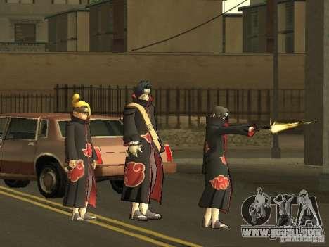 The Akatsuki gang for GTA San Andreas forth screenshot