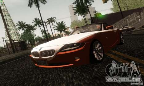 BMW Z4 for GTA San Andreas upper view