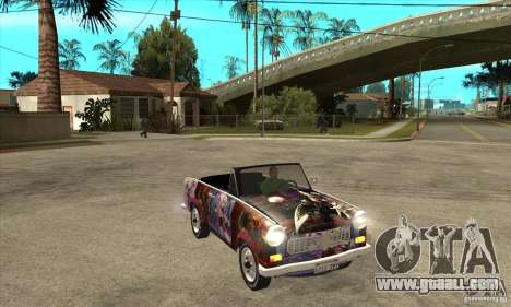 Trabant 601 Custom for GTA San Andreas inner view