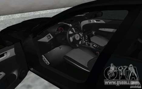 Subaru Impreza for GTA San Andreas back view