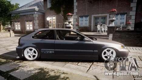 Honda Civic EK9 Tuning for GTA 4 left view