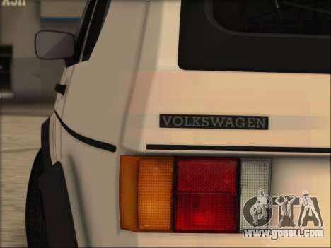 Volkwagen Golf MK1 Stock for GTA San Andreas left view