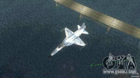 US Air Force for GTA Vice City back left view