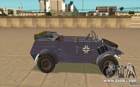 Kuebelwagen v2.0 normal for GTA San Andreas left view