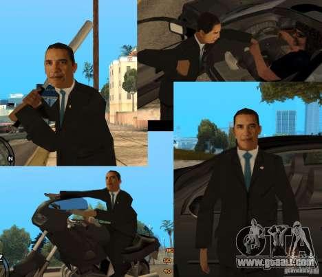 Barack Obama in the Gta for GTA San Andreas