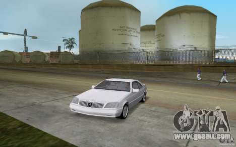 Mercedes-Benz 600SEC (C140) 1992 for GTA Vice City back left view
