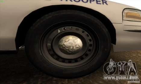 Ford Crown Victoria Arkansas Police for GTA San Andreas inner view